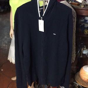 New MK sweater full length zipper and hood